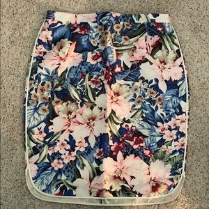 J crew collection size 8 mai tai floral skirt